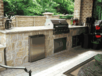 Custom Outdoor Kitchens or Fireplaces
