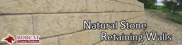 Natural stone retaining walls, allen retaining walls, frisco retaining walls, wylie retaining walls, murphy retaining walls